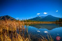 The quiet Vermilion Lake (Kasia Sokulska (KasiaBasic)) Tags: lake canada mountains fall reflections landscape nationalpark alberta banff rockymountains vermilionlakes