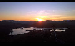 A timelapse in progress (Inverness-Andrew) Tags: uk winter sunset sky mountains water mobile landscape lights scotland highlands hills mobilephone loch lochs lochtarff