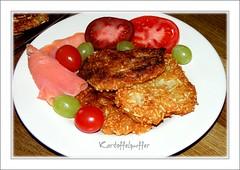 Kartoffelpuffer (siggi2234) Tags: tomaten kartoffel trauben lachs geruchert shwotan siggi2234