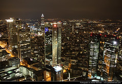 View from the Main Tower @ Night, Frankfurt (JH_1982) Tags: view main tower frankfurt night skyline cityscape evening lights light urban city hessen hesse germany deutschland skyscrapers observation deck observatory ausblick aussicht nacht abend lichter lichtermeer stadt aussichtsplattform highrise highrises wolkenkratzer hochhuser architecture architektur francfortsurlemain frncfort del meno francoforte sul       nad menem  skyscraper  noche nuit notte noite     ciudad cit   jochenhertweck   helaba observacin  alemania allemagne germania