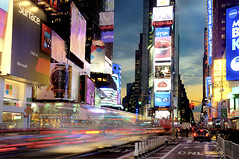 Times Square (Tony Shi.) Tags: new york city nyc light usa ny motion colors america square colorful time theatre district trails best times crossroad sq hdr tsq