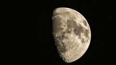 Captured Craters (Rick Smotherman) Tags: summer moon stpeters nature june canon outdoors backyard 7d canon300mmf4l canon7d canon14teleconverter