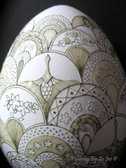 Cranes and Fans WIP (so_jeo) Tags: art easter egg ukrainian batik pysanka pysanky