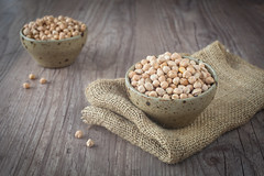 Chickpeas (sabino.parente) Tags: food texture nature cuisine wooden healthy raw background bio bowl vegetable health meal vegetarian bunch peas portion diet edible culinary biological gastronomy legumes nutrition chickpeas ingredient juta