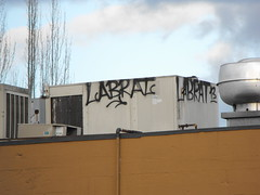 LABRAT (Anything for thee Shot) Tags: roof portland graffiti labrat