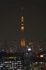 Tokyo Skytree (Matthias Harbers) Tags: city light sky tower japan skyline night photoshop tokyo licht tv nikon nacht illumination stadt labs dxo turm hdr tvtower topaz 18200mm 3xp photomatix grossstadt elumination fehrsehturm d7000 tokyoskytree