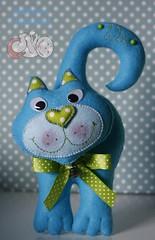 Gatinho (Mimos & Feltrices) Tags: cat felt gato feltro gatinho enfeite