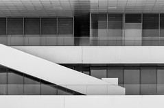 David Chipperfield. Veles e Vents #6 (Ximo Michavila) Tags: shadow urban abstract building geometric valencia lines architecture stairs port grey blackwhite spain graphic americascup chipperfield velesevents architecturephotography archidose archdaily archiref ximomichavila