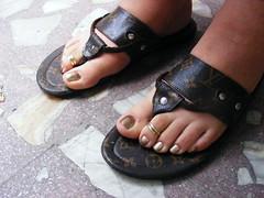 DSCF0541 (sandalman444) Tags: male feet sandals painted nail polish nails mens toenails pedicures toerrings