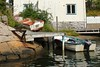 One in water, one on land (K Nilsen) Tags: summer house water stone boats sweden jetty coastal sverige skiff outboard bohuslän grundsund västkusten skaftö