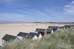 Wells next the Sea (gracust) Tags: ocean sea seascape beach landscape norfolk wells beachhuts sanddunes wellsnextthesea