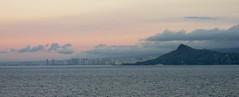 Honolulu Skyline at Dawn (Stabbur's Master) Tags: volcano diamondhead crater diamondheadcrater statepark hawaiistatepark diamondheadstatemonument diamondheadlighthouse faro lighthouse honolulu skyline honoluluskyline