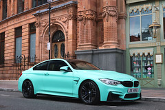 BMW M4 F82 Coup (R_Simmerman Photography) Tags: bmw m4 f82 coup london united kingdom summer 2016 july mayfair harrods knightbridge sloane street valet parking garage hotel combo supercars sportcars hypercars londoncars carsoflondon qatar saudi uae arab turquoise