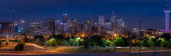 Denver skyline (gCabral85) Tags: dusk denver skyline lights panorama longexposure trees purple