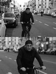 [La Mia Citt][Pedala] (Urca) Tags: milano italia 2016 bicicletta pedalare ciclista ritrattostradale portrait dittico bike bicycle biancoenero blackandwhite bn bw 872124 nikondigitale mir