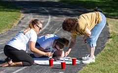 Painting the Path (Lester Public Library) Tags: tworiverswisconsin tworivers washingtonpark unitedway unitedwaymanitowoccounty manitowoccounty wisconsin bornreadingtrail volunteers community communityevents unitedwaykickoff2016 lesterpubliclibrarytworiverswisconsin wisconsinlibraries readdiscoverconnectenrich