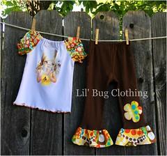 Big Eye (Lil' Bug Clothing) Tags: big eyed girl peasant top pant outfit