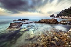 Seascape 2 (Ivo.Vuk) Tags: ivovuk nikon seascape thassos longexposure summer rocks sea water