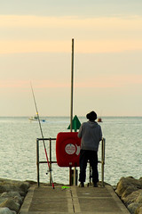 Fisherman (Paulfeb282) Tags: paulfeb282 paulcoxon paul coxon dorset sandbanks beach sunrise sunset sea front sunny day