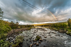 Tor Magnus Anfinsen-000165 (Tor Magnus Anfinsen) Tags: river rock water rainbow sky sunset norge norway trees mauntain light nikon