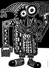 Cor de monstre 13 (Fernando Laq) Tags: monster monstruo monstre dibujo dibuix bn grises