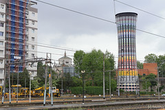 Rainbow Tower (tomosang R32m) Tags: lombardia milano italia italy イタリア ミラノ ロンバルディア milanoportagaribaldi 給水塔 rainbowtower レインボータワー torrearcobaleno