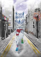 The Wolf | LMNH! (Lovatto Ilustrador) Tags: lookmumnohands lovatto lovattoilustrador illustration drawing urban art digital print wolf graffiti tag tattoo tatuagem body shoreditch london londres uk reino unido brasil brazil cafe coffee