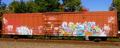 - smells (timetomakethepasta) Tags: smells 907 freight train graffiti ckix nyc art boxcar
