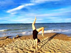 #iwannabeagymanstic #gymnastic #sea #me #myself (annaargenti) Tags: iwannabeagymanstic gymnastic sea me myself