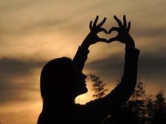 The shadow of love (jbardini@yahoo.com) Tags: shadow woman love heart sunset