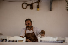 Chef in Oia. Santorini, Greece