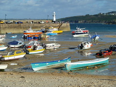 The harbour, St Ives (Richard and Gill) Tags: cornwall stives kernow cornish coast seaside harbour pier smeatonspier boats lighthouse