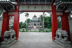 Long Hua Temple's gate at Davao (Hendraxu) Tags: gate temple red mahayana buddhist religion religius prayer building faith travel travelling destination architecture davao mindanao philippines