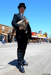Dr. Takeshi Yamada and Seara (Coney Island Sea Rabbit) at the Coney Island Beach in Brooklyn, New York on June 9, 2016. 20160609Thu DSCN6466=0020pmrC1, Coney Island Beach (searabbits23) Tags: searabbit seara takeshiyamada  taxidermy roguetaxidermy mart strange cryptozoology uma ufo esp curiosities oddities globalwarming climategate dragon mermaid unicorn art artist alchemy entertainer performer famous sexy playboy bikini fashion vogue goth gothic vampire steampunk barrackobama billclinton billgates sideshow freakshow star king pop god angel celebrity genius amc immortalized tv immortalizer japanese asian mardigras tophat google yahoo bing aol cnn coneyisland brooklyn newyork leonardodavinci damienhirst jeffkoons takashimurakami vangogh pablopicasso salvadordali waltdisney donaldtrump hillaryclinton endangeredspecies save