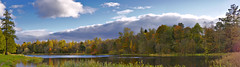 Autumn Lake Pano (kanyck) Tags: autumn lake water sky clouds nikon d7200 sigma 1835