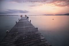 L' ALGUER (APINTUS) Tags: alghero spiaggia molo tramonto sole barca motoscafo sunset capo caccia rada sardegna