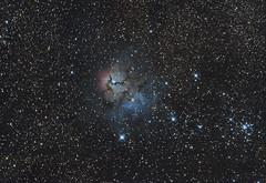 M20 - The Trifid Nebula (Antoine Grelin) Tags: messier 20 21 m21 m20 astronomy astrophotography telescope orion nebula galaxy stars gas galactic hunter nevada vegas las usa canon pixinsight lightroom dslr 600d t3i atlas