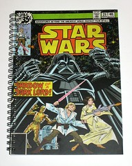 star wars marvel comics a5 spinout 120 lined pages notebook 2016 typo product code 135522-88 a (tjparkside) Tags: small a5 spinout notebook 2016 star wars classic comic comics book books cover covers marvel blank page pages with storage pocket issue 21 march space fantasy shadow dark lord darth vader droid droids protocol astromech c3po c 3po r2d2 r2 d2 luke skywalker lightsaber princess leia organa blaster film films 120 dimensions 148cm x 21cm 582x826 material paper inserts wire spiral spine elastic fastener lined product code 13552288