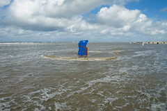 Storm surge (Harald Schnitzler) Tags: storm flood beach surge chair water high tide northsea sealevel clima risingsealevel