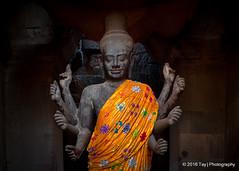 Cambodia! (Tay | Photography) Tags: cambodia culture tayphotography cambodian siemreap angkorwat robe buddhist buddhism religious religion spiritual clothing statue structure face stone rock body image picture ancient civilization archeology 8hands 8arm temple architecturalstyle khmerempire khmer jayavarmanii indravarmani yasovarmani jayavarmaniv rajendravarmanii jayavarmanv suryavarmani udayadityavarmanii suryavarmanii jayavarmanvii hindu vishnu sandstone inside central world heritage