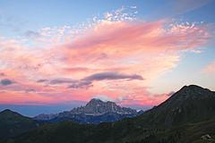 s16_0747_Civetta (Vid Pogacnik) Tags: dolomiti dolomites mountain evening twilight outdoor cloud landscape sky mountainside peak mountainpeak