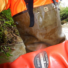 Chameau-Thor-Bach5921 (Kanalgummi) Tags: rubber waders chestwaders gummihose gummianzug drysuit trockenanzug sewer worker goutier kanalarbeiter
