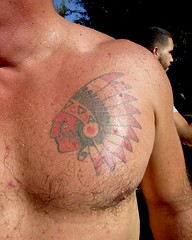 IMG_7916 (danimaniacs) Tags: party shirtless man guy sexy hot bear tattoo hairy chest pecs