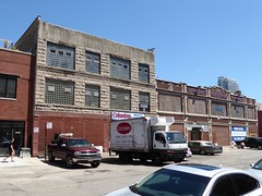 Chicago, Fulton Central Market, Gentrifying Meat and Fish Wholesale District, Street Scene (Mary Warren (7.3+ Million Views)) Tags: chicago fultonmarketdistrict architecture building urban gentrification historic glassbrick truck stone