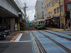 . (Elliott Fusy-Pudal) Tags: nagasaki  weekend trip city   street streetcar tramway bridge station     urakami