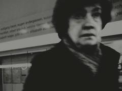 You Are Not Ready Yet (Yves Roy) Tags: street city shadow urban blackandwhite bw black contrast dark austria blackwhite interestingness interesting raw moody darkness noiretblanc 28mm snap trainstation oldwoman gloom yr enigmatic fav10 ricohgrd blackwhitephotos grdiii bureboke yvesroy yrphotography