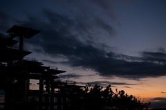 IMGP0343 (Froschmann : ) Tags: blue sunset orange cloud silhouette japan chiba gradation   k5 futtsu       sigma30mmf14exdc   obsercatory themeijicentennialmemorialobservationtower capefuttsu