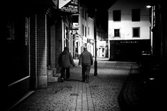 Evening Constitution (Explored) (stephen cosh) Tags: life street city people blackandwhite bw sepia mono scotland town candid streetphotography rangefinder ayr reallife humancondition blackandwhitephotos 50mmsummilux blackwhitephotos leicam9 stephencosh leicammonochrom leicamm
