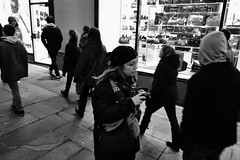 Photographer #20: Eyes (rockerlan) Tags: camera nyc people newyork photography eyes blind photos manhattan sony midtown nighttime blindness rx100