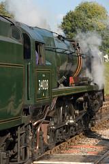 Eddystone 35028 (pstani) Tags: train sussex railway steamlocomotive bluebellrailway sonydscr1 horstedkeynes 34028eddystone srwestcountryclass peterstaniforth pstani